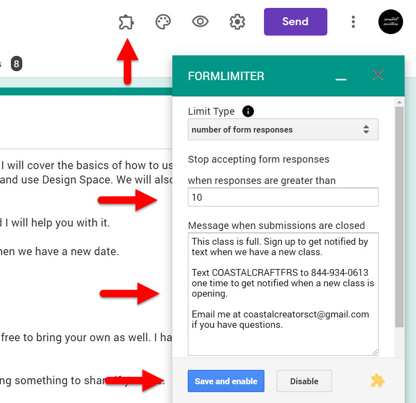 How to Limited Google Form Registrations