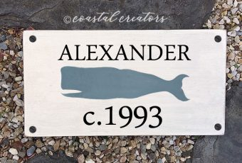 Whale House Sign Plaque with Circa