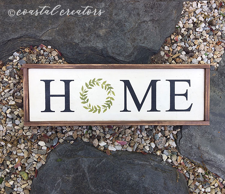 Home with Wreath Farmhouse Wood Sign, Sign Painting Class Connecticut