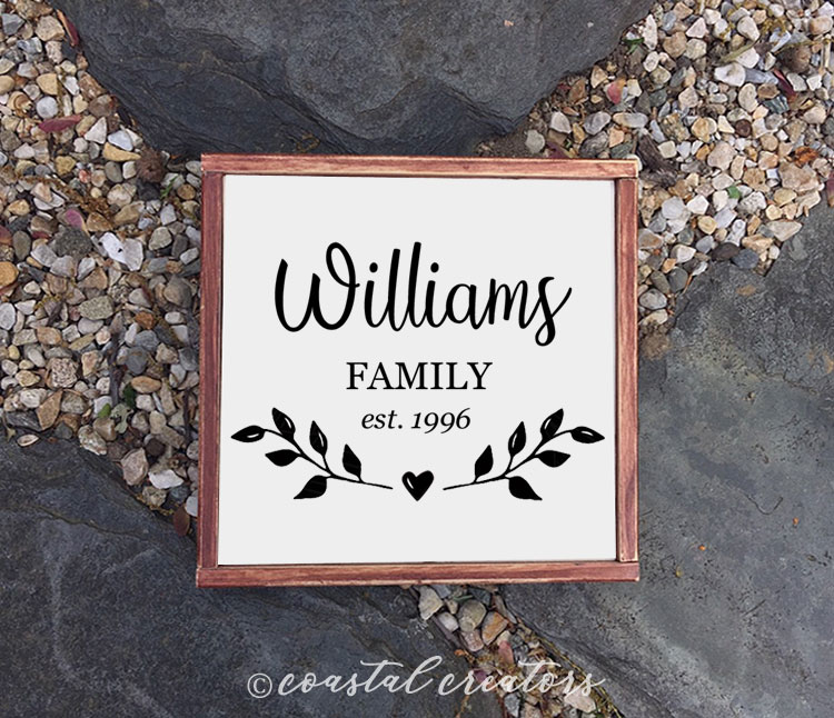 Personalized Family Name Wood Sign
