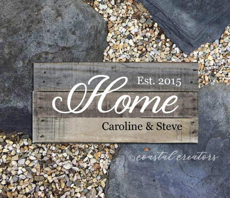 """Rustic """"Home"""" Personalized Palette Wood Sign"""