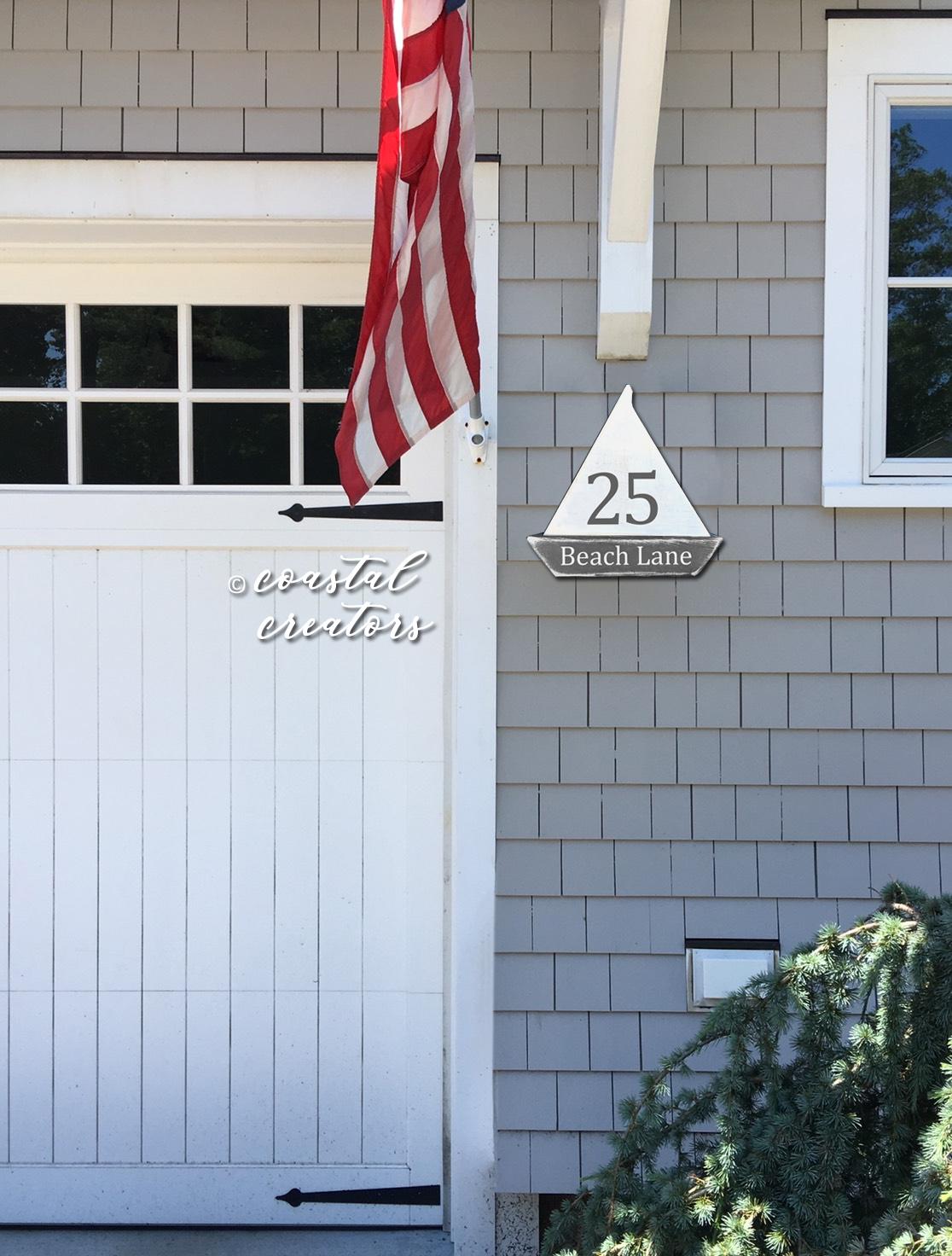 Nautical Sailboard Garage Door House Wood Sign Plaque