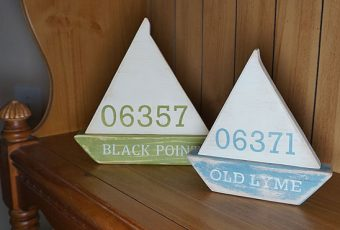 Personalized Handmade Nautical Wooden Sailboats