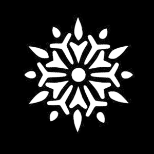 Free Snowflake Clipart SVG PNG Stencil