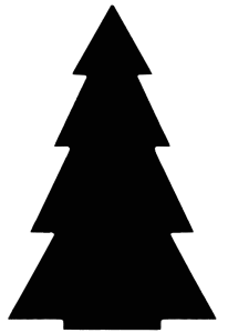 Free Christmas Tree Stencil, PNG, SVG, Clipart, Cut File