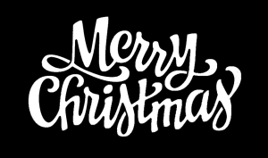Free Merry Christmas Clipart SVG PNG Stencil