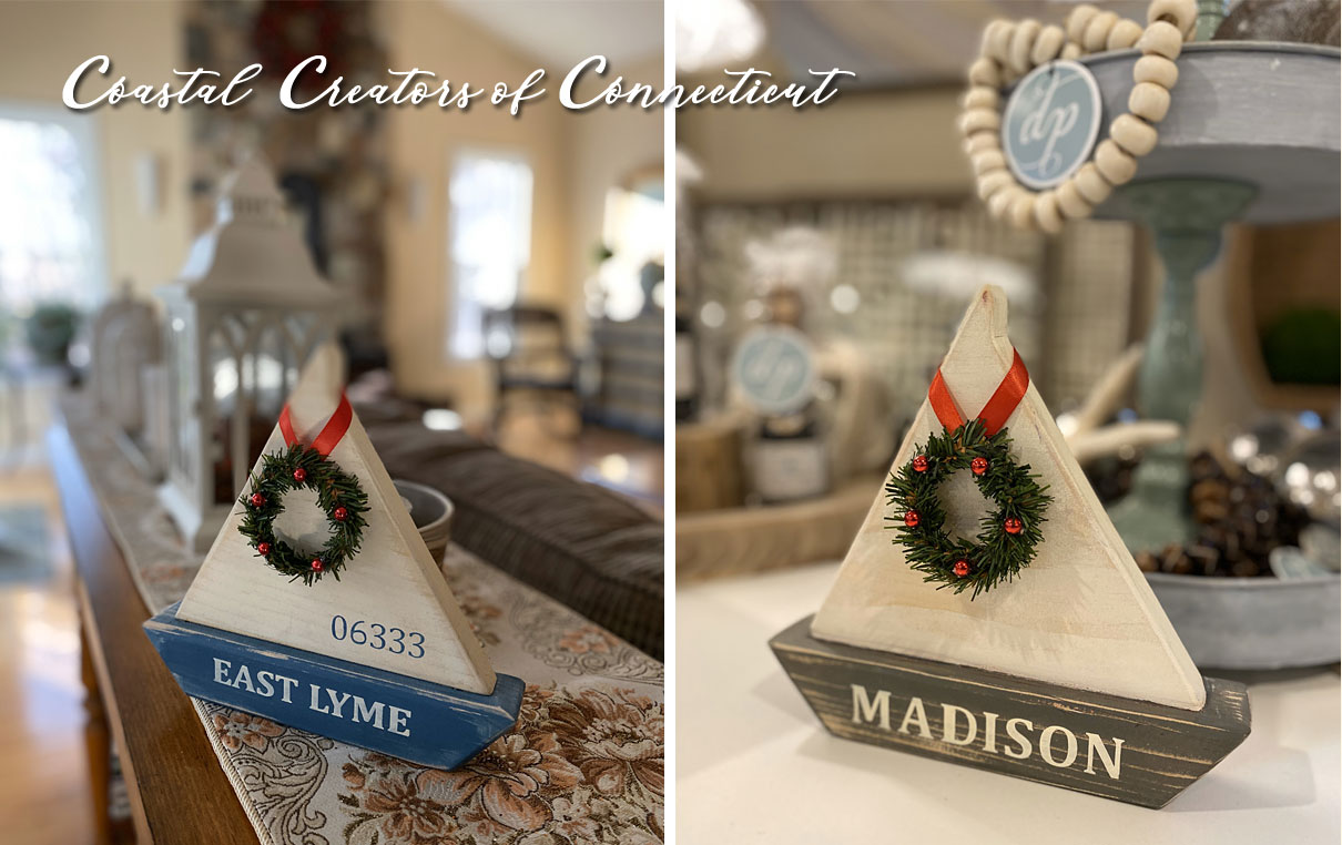 Handmade Nautical Wood Sailboats Can be Personalized