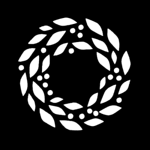 Free Wreath with Berries Clipart SVG PNG Stencil