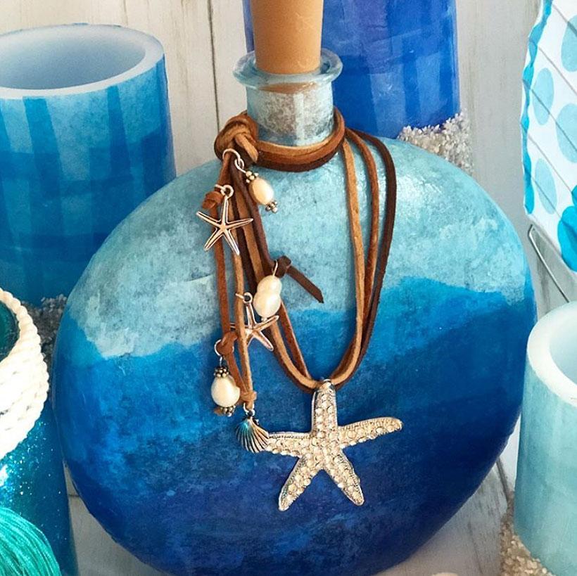 Boho Fairy Light Bottle Lamp