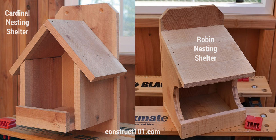Cardinal Robin Nesting Shelter free DIY plans