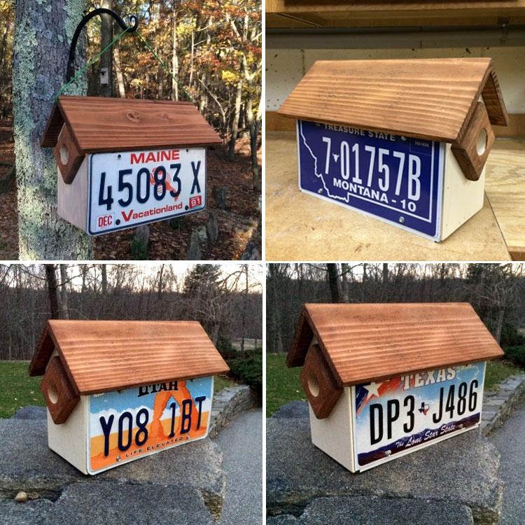 license plate birdhouse ideas