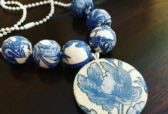 Faux Broken China Necklace