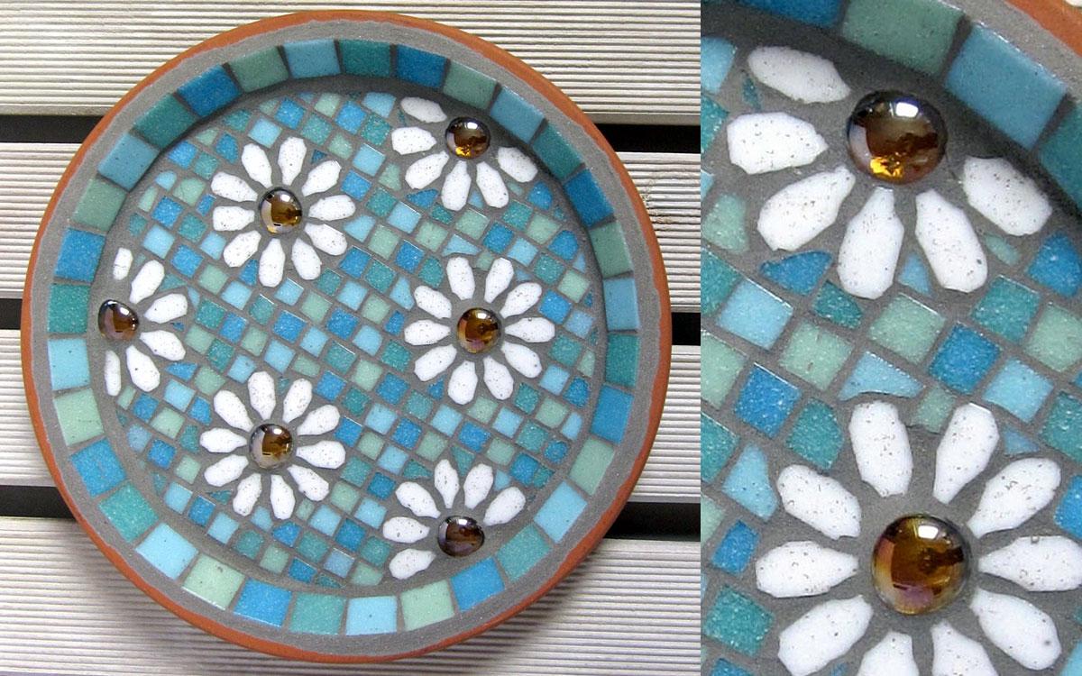 Mosaic Birdbaths to Make and Enjoy