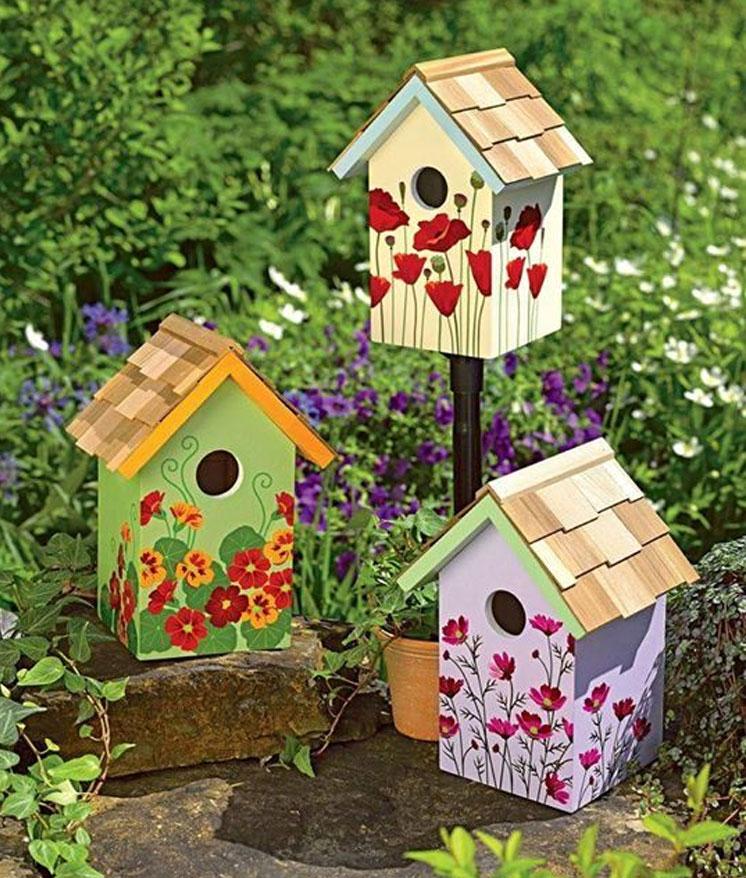 painted birdhouse ideas