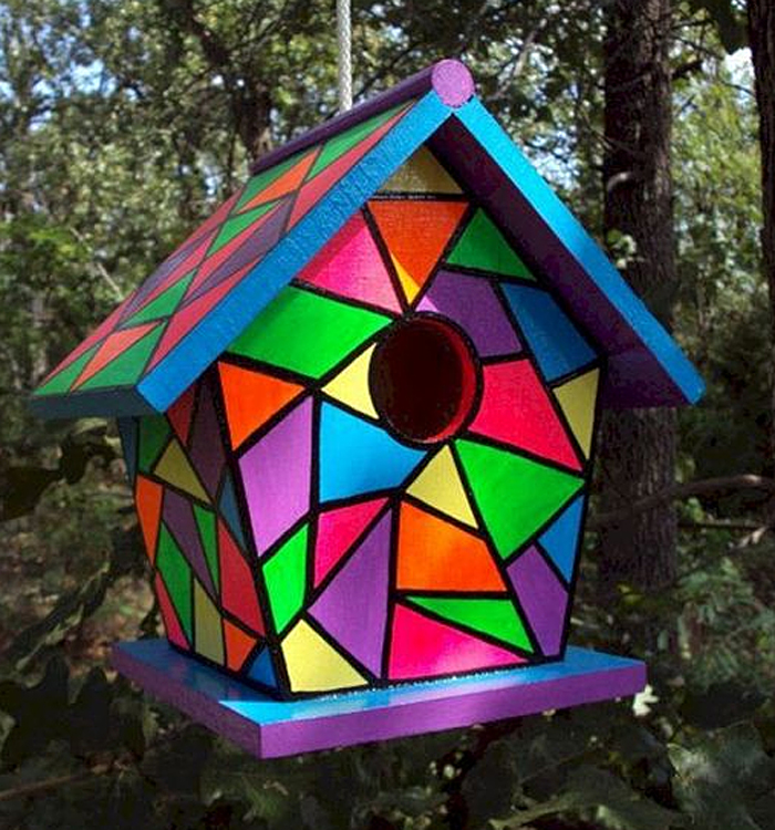 Stained Glass Birdhouse Pattern Instructions
