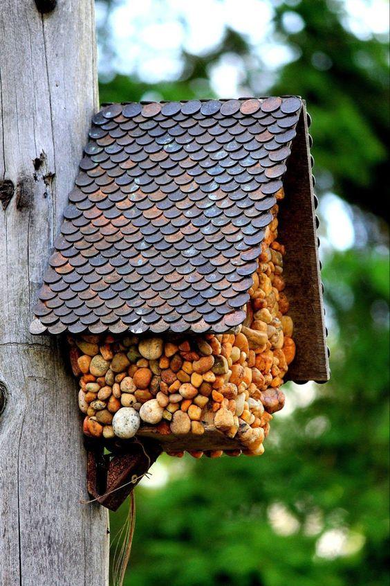 Stone Birdhouse Ideas