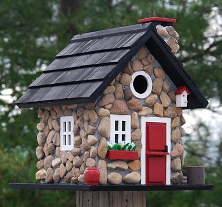 Home Bazaar Windy Ridge Stone Birdhouse