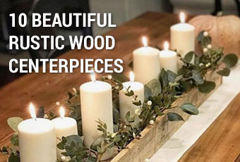 10 Beautiful Rustic Wood Centerpiece Boxes