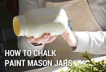 How to Chalk Paint Mason Jars