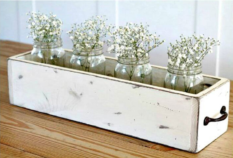 Rustic Wedding Wood Centerpiece Box