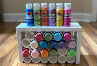How to Make a Craft Paint Storage Desktop Organizer