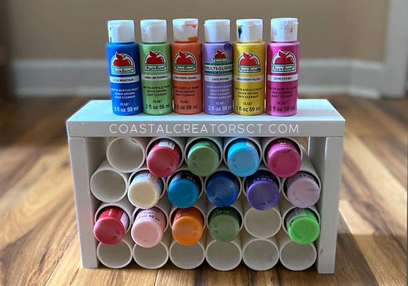 How to Build a Desktop Paint Bottle Organizer