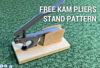 FREE KAM Plastic Snaps Basic Pliers Desktop Stand Pattern