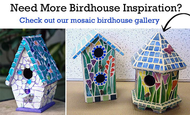 Mosaic Ceramic China Tile Birdhouses