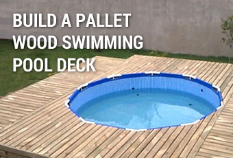 Build a Pallet Wood Swimming Pool Deck