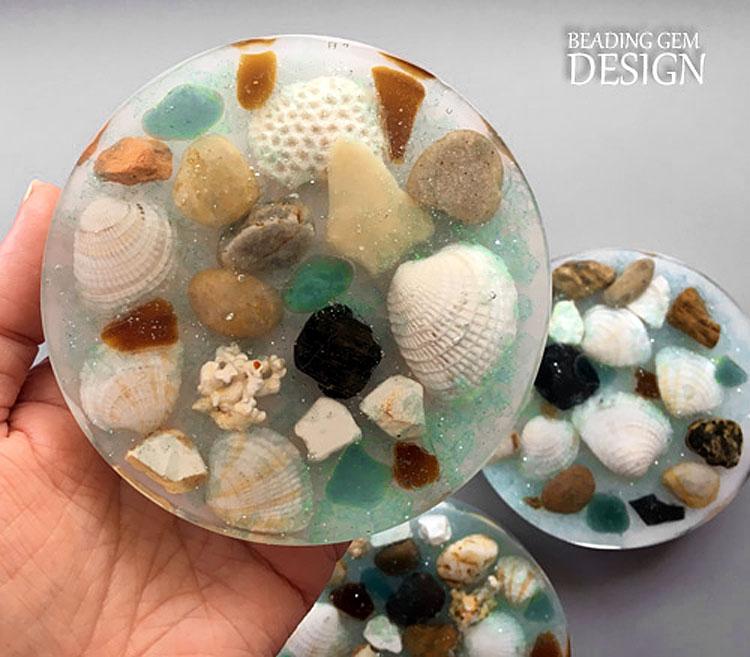 Sea Glass Coasters