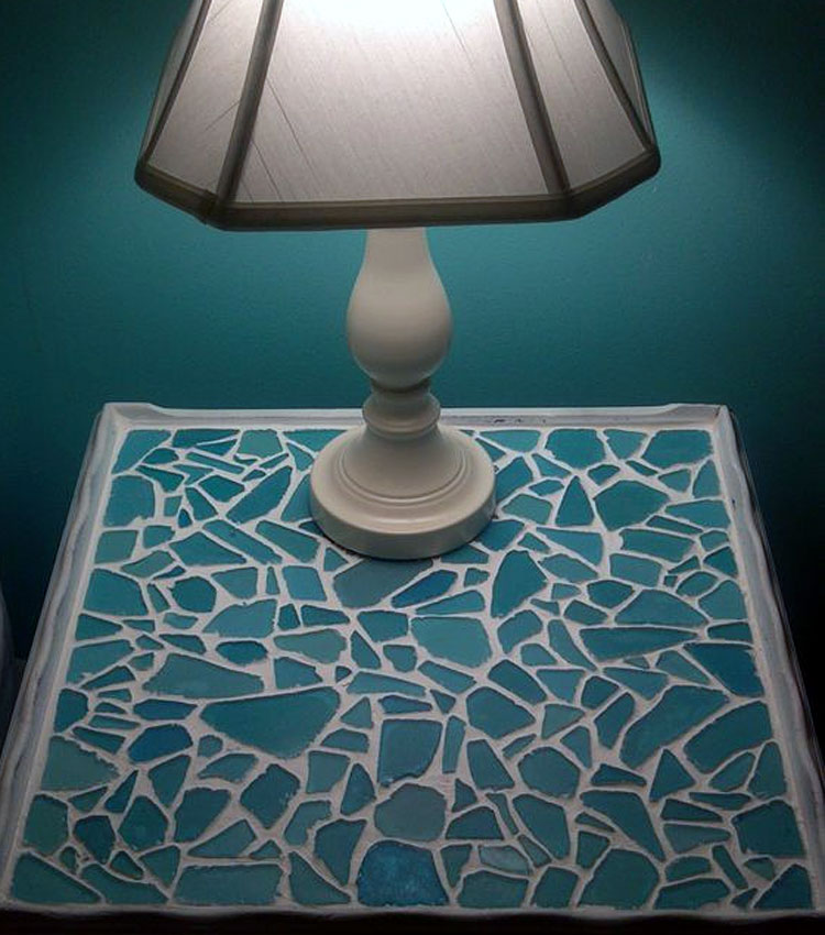 Sea Glass Mosaic Table