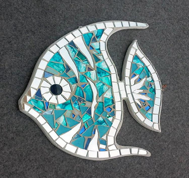 Sea Glass Angelfish Wall Hangings