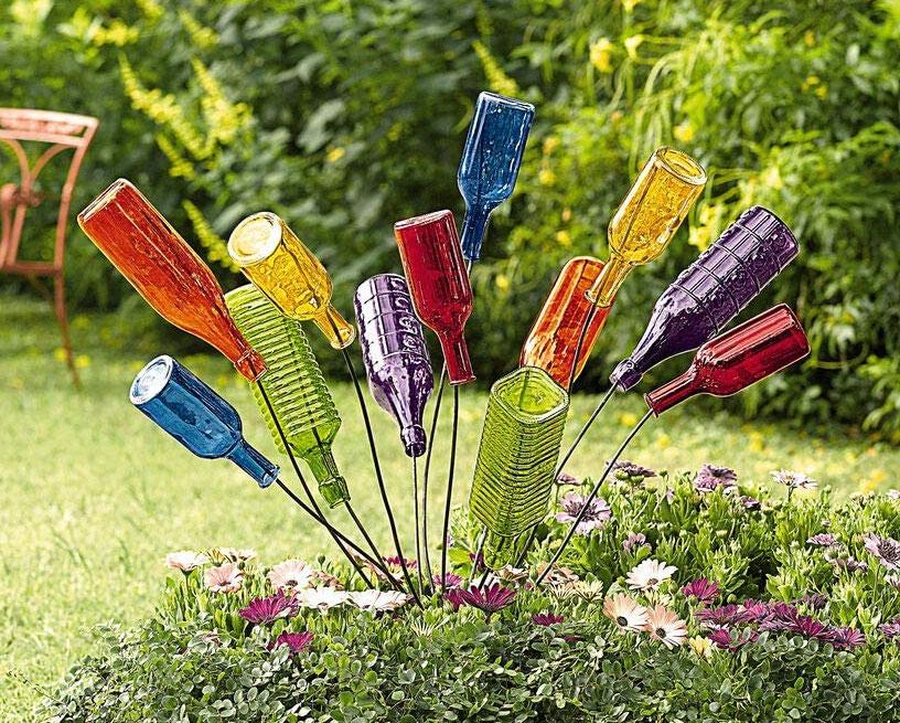 Garden Glass Bottles Art