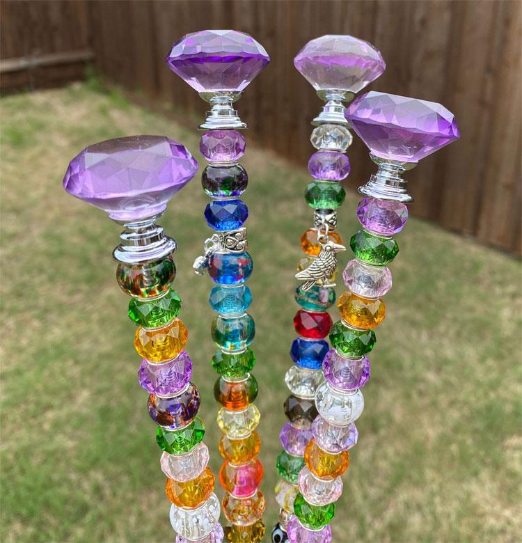 Garden Glass Art Projects, Garden Glass Stakes