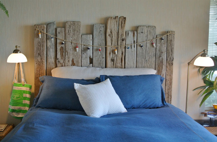 DIY Coastal Driftwood Headboard