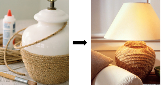 DIY Coastal Rope Lamp