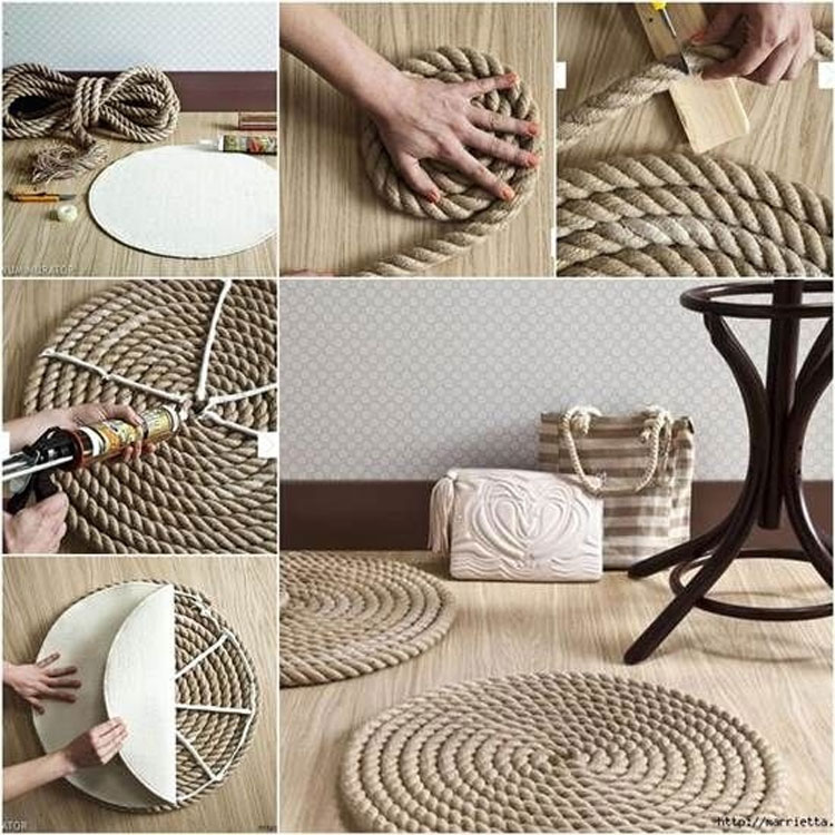 DIY Coastal Rope Rug