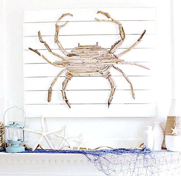 Driftwood Crab Art
