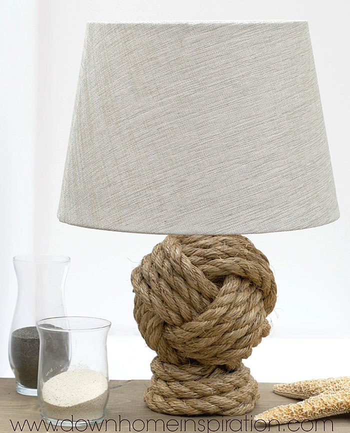"Pottery Barn Inspired ""Monkey Fist"" Rope Knot Lamp"