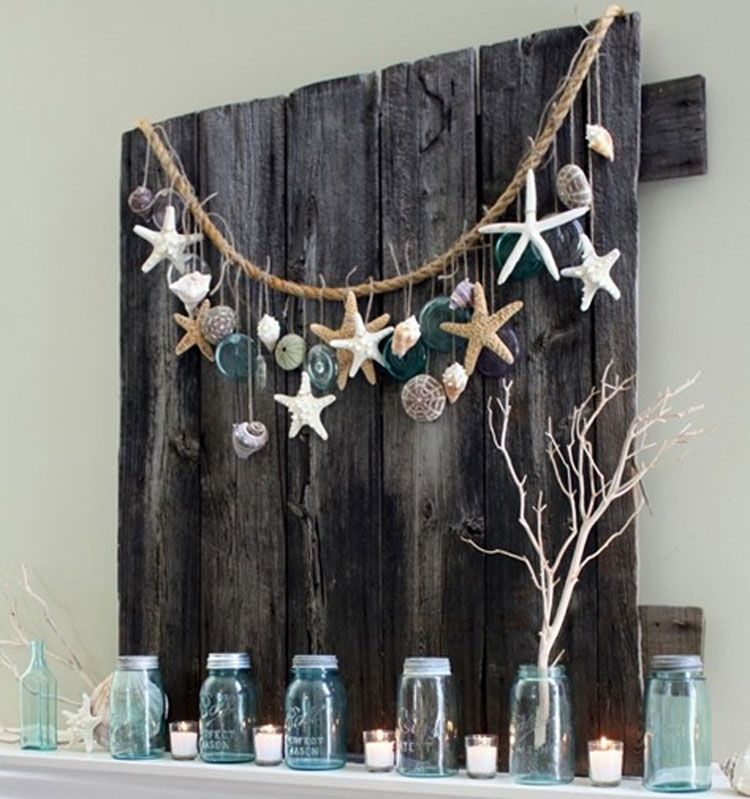 Pallet Beachy Coastal Garland