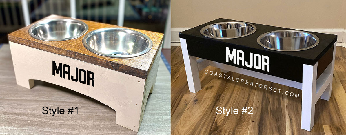 Personalized Dog and Cat Food Bowl Stand