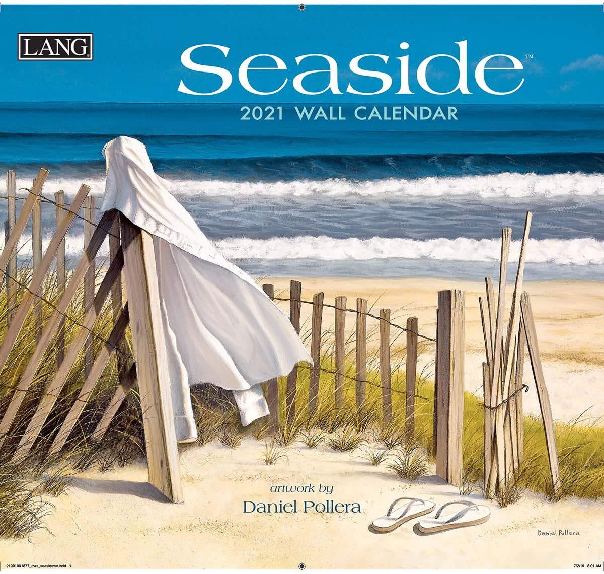 Calendario de pared 2021 Lang Seaside