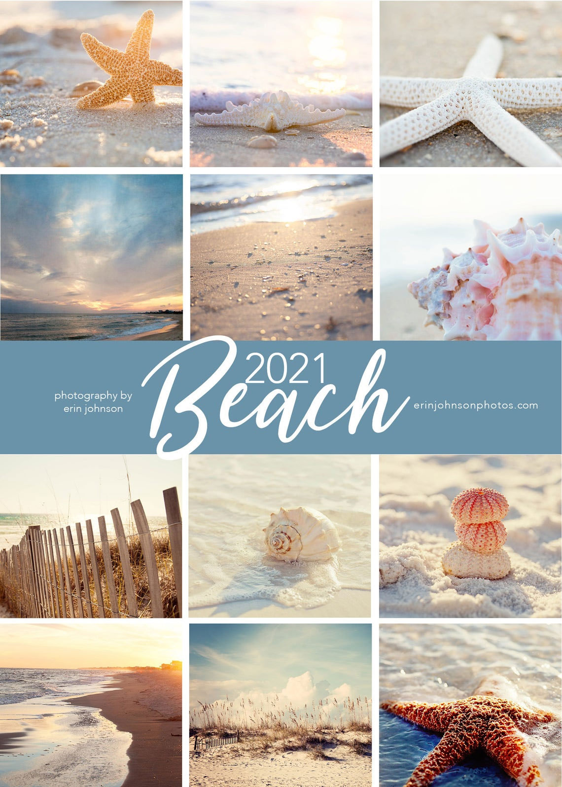 2021 Coastal Beach Wall Calendars