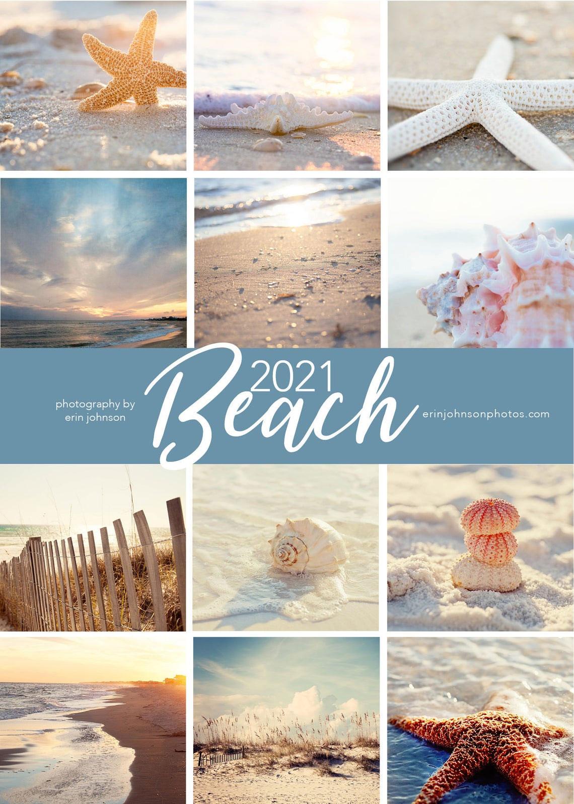 Calendarios de pared de la playa costera 2021