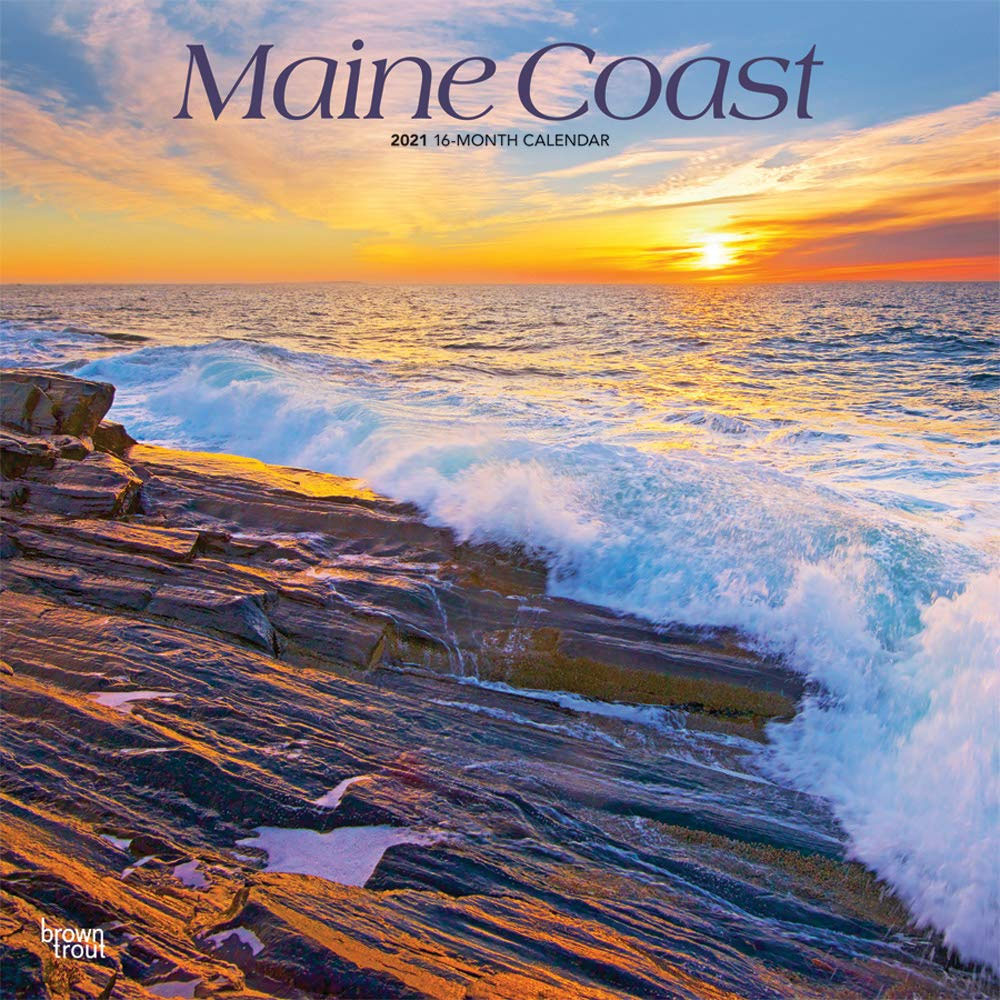 2021 Maine Coastal Beach Wall Calendars