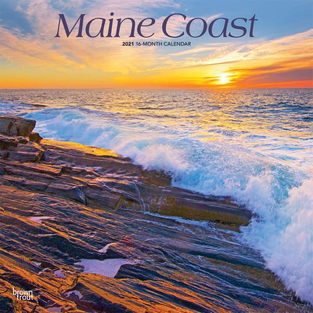 Calendarios de pared de la playa costera de Maine 2021
