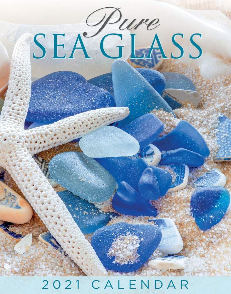 Calendario de pared de vidrio marino 2021
