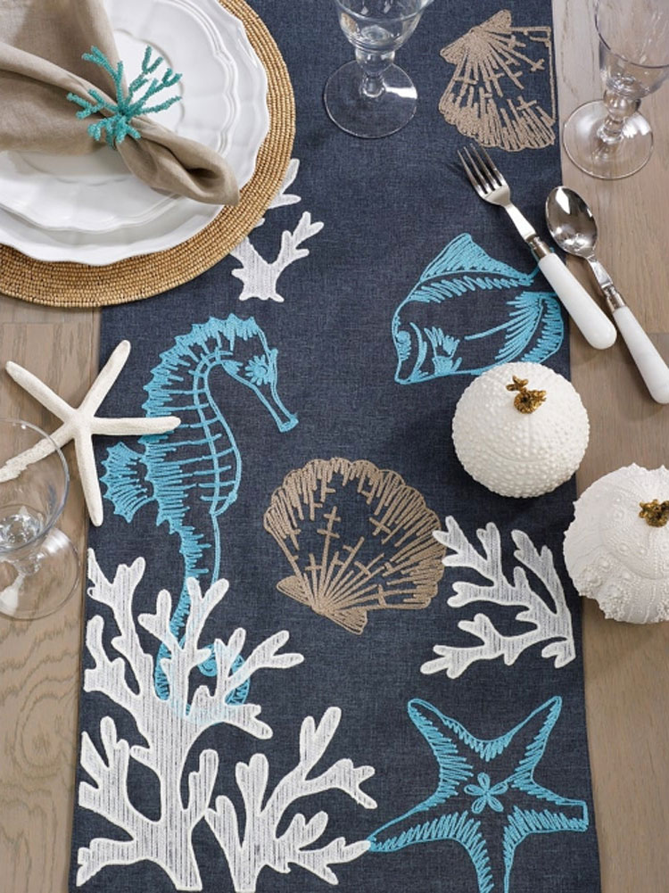 Beach-themed Table Runner