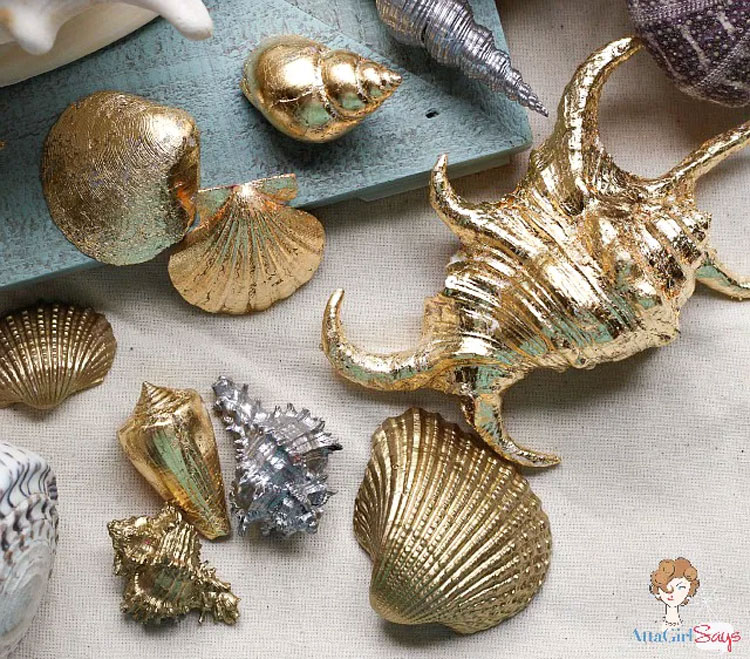 Gold and Silver Gilded Shells